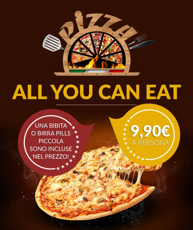 pizza all you can eat a 990€  tana del luppolo prata di